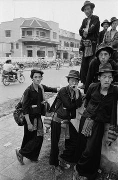 Hmong village- I like the hats.