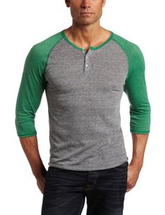 Alternative Men's 3/4 Sleeve Raglan Henley