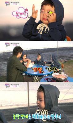 """Superman Returns"" Triplets Show Fear of Live Shrimp, Min Gook Comforts Scared Man Se | Soompi"