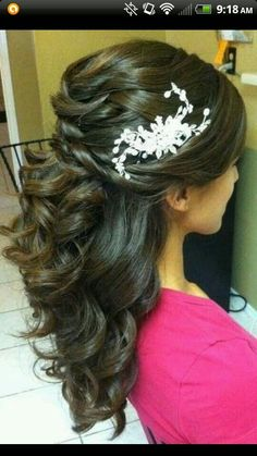 Quinceanera hairstyle without the white thing