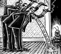 "From the comic adaptation of Franz Kafka' s ""Metamorphosis"" by artist Peter Kuper"