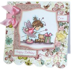 Lili of the Valley Birthday Fairy with my Favourite floral papers - 14 Oct 2012