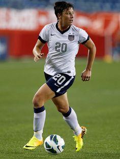 Abby Wambach vs. Korea, June 15, 2013. (Michael Dwyer/AP)
