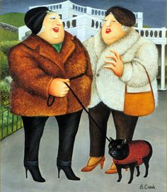 """Beryl Cook """"Beryl Cook, September 1926 – 28 May was an English artist best known for comical paintings of people. She had no fo. Beryl Cook, Plus Size Art, English Artists, British Artists, Funny Sexy, Fat Women, Naive Art, Art For Art Sake, Portraits"""