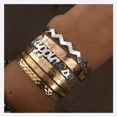 Bracelet- jonc- may-bay- http://romane-laboutique.com - or rose- or - argent- message- texte- happiness