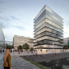 MVRDV chosen for hafenspitze waterfront scheme in mainz, germany - designboom | architecture
