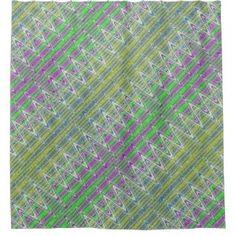 Shower Curtain Colorful pastel zigzag pattern #zazzle #decor #homedecor #style