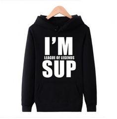 Eu sou League of Legends sup capuz LOL pullover sweasthirt