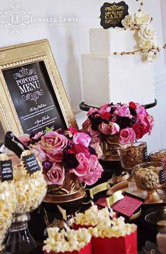 Oscars + Academy Awards Themed Party with Lots of Really Cute Ideas via Kara's Party Ideas KarasPartyIdeas.com #movieviewingparty #girlsnigh...