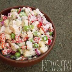 Салат из цветной капусты - Сыроедение, рецепты и диеты - Rawsay