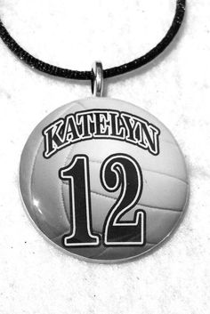 Personalized Volleyball Necklace Sports by sherrollsdesigns, $10.00