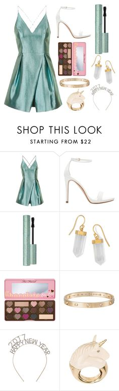 """""""New Year's Eve Party"""" by chooseyourstyle321 on Polyvore featuring Topshop, Zara, Too Faced Cosmetics, BillyTheTree, Cartier and BIBI VAN DER VELDEN"""