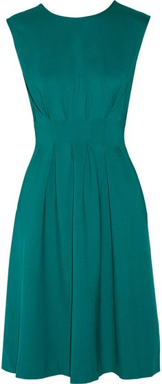 Issa Caley pleated stretch-cady dress