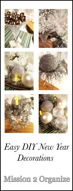 easy DIY New Year decoration projects Diy Christmas Decorations Easy, New Years Decorations, Holiday Decor, Christmas And New Year, Christmas Diy, Christmas Bulbs, Easy Diy, Organization, Holidays