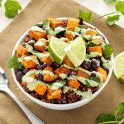 Recipe for Sweet Potato and Black Bean Quinoa Bowls