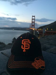 Look at the Golden Gate Bridge in the background. I love living in the bay area. Giants! #MCO435