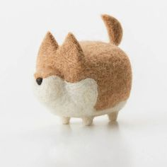 Design:  Needle felted Animal Cute dog  In Stock: 2-4 days for processing  Designer: はやさかのぶや  More Include:  Only The Needle Felting dog Color:  White & brown & Black  Material:  Felt Wool (100% merino wool), Plastic Eyes,...