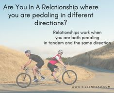 Are you in a relationship where it feels like you are pedaling in different directions?  This happens when you don't understand what is important to each other, why, or how to meet each other's needs.  Most importantly, how each of you feels loved and valued.  Take the Stay Or Go Quiz  #stayorgo #relationships #struggle #love #divorce #couples #connection #communication #solutions