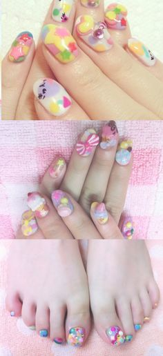 Simplify Your Arts And Crafts Projects And Possibilities Diy Nails, Cute Nails, Pretty Nails, Nail Polish Art, 3d Nail Art, Fabulous Nails, Gorgeous Nails, French Manicure Toes, Hippie Nails