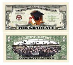 Graduation Million $1,000,000.00 Dollar Bill Novelty Gift 100 Lot Sell Free Ship - http://coins.goshoppins.com/us-paper-money/graduation-million-1000000-00-dollar-bill-novelty-gift-100-lot-sell-free-ship/