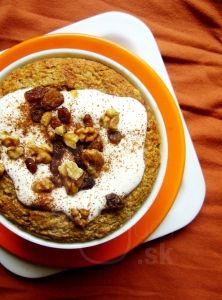 Zapekaná tekvicová ovsená kaša Hummus, Cereal, Oatmeal, Paleo, Food And Drink, Sweets, Breakfast, Ethnic Recipes, The Oatmeal
