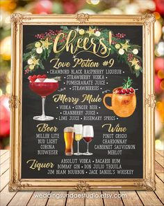 # Food and Drink menu signature cocktail Digital Printable Wedding Bar Menu Sign, His and Hers Signature Drinks Cocktails Signs, Watercolor Chalkboard Party Christmas New Year Signature Cocktail, Wedding Signature Drinks, Sangria Wedding, Diy Wedding Menu, Wedding Reception Signs, Wedding Parties, Wedding Ideas, Wedding Foods, Woodsy Wedding