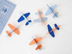 hello, Wonderful - DIY PAPER PLANE TOY (WITH FREE TEMPLATE)