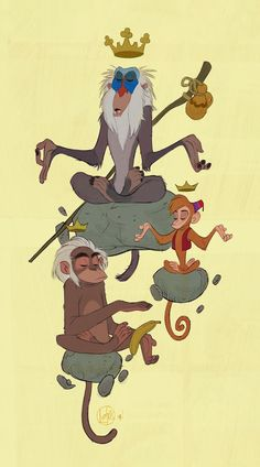 I'm a visual development artist at Walt Disney Animation Studios. All work © Cory Loftis Walt Disney Animation Studios, Disney Kunst, Disney Art, Character Concept, Character Art, Monkey Illustration, Monkey Art, Fable, Disney Drawings