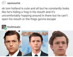 Goddamnit. I just watched Spiderman Homecoming and realized his mouth did a thing and now I know what that thing is and I can't unsee it