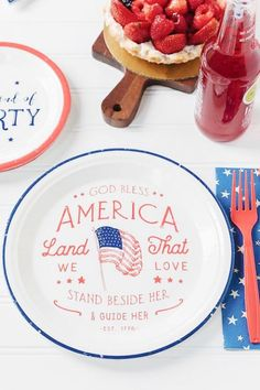 July 4th Paper Plates See more party ideas and share yours at CatchMyParty.com