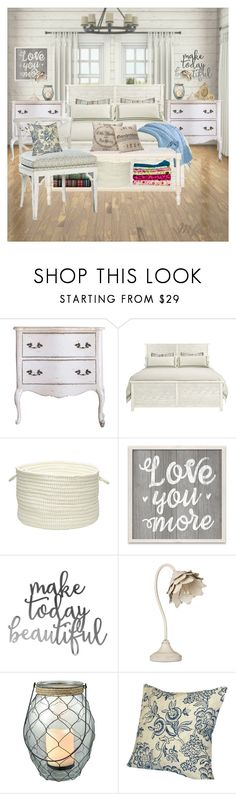 """Farmhouse Chic Bedroom"" by mfoster07 ❤ liked on Polyvore featuring interior, interiors, interior design, home, home decor, interior decorating, Lucille, San Miguel, Shabby Chic and Co