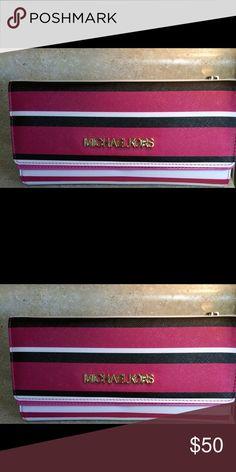 MK wallet. Pink, black and white MK wallet. MICHAEL Michael Kors Bags Wallets