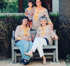 @Justina Blakeney and family beautifully don pieces from our Soleil 2 Collection!