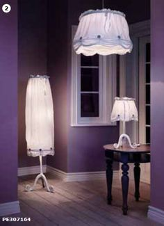 I love that hanging lamp for a bedroom. Coming to Ikea in April 2012.