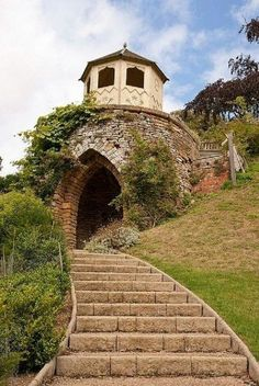 Garden Folly at Belvoir Castle In Leicestershire, England ....