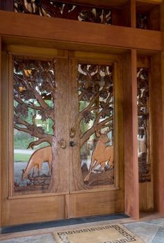 wood front doors - Google Search