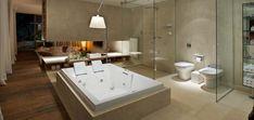 A mais nova mania são os grandes espaços, quartos grandes, salas grandes. enfim. Agora a vez é dos banheiros. Os proprietários mais sort...