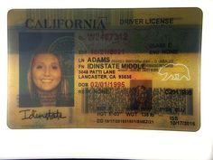 Leveraging years of experience, our team of highly-skilled and experienced professionals makes high-quality fake driver's license. Not to mention, our cards feature many security features just like the real thing. Driver License Online, Driver's License, Drivers License California, Passport Card, Real Id, Id Card Template, Gift Card Generator, Hard Earned, Change Of Address