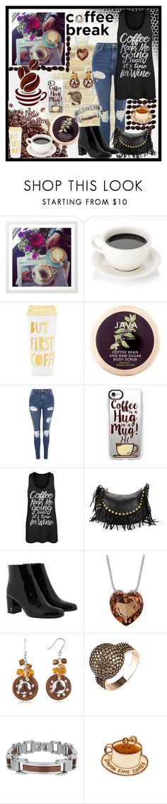 """Coffee Break"" by jeneric2015 ❤ liked on Polyvore featuring ban.do, Java, Topshop, Casetify, Valentino, Yves Saint Laurent, Dolci Gioie, Lord & Taylor and coffeebreak"