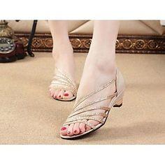 Shimandi ® Leatherette Women's Flat Heels Sandals Shoes(More Colors) – USD $ 12.59