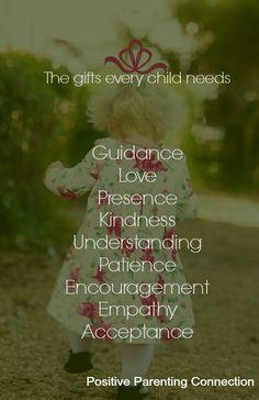 What children need...