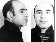 Al Capone. Born of an immigrant family in Brooklyn, New York in Al Capone quit school after the sixth grade and associated with a notorious street gang, becoming accepted as a member. Real Gangster, Mafia Gangster, Gangster Style, Celebrity Mugshots, Chicago Outfit, Mafia Families, Finding Treasure, Al Capone, My Kind Of Town