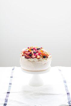 Summer Pavlova with Honey and Thyme Roasted Nectarines and Hazelnuts | Myl Lttle Larder