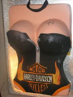 Harley Davidson boob cake