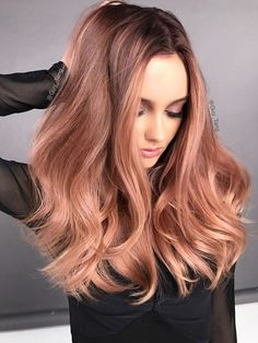 Best Ombre Hair, Brown Ombre Hair, Ombre Hair Color, Hair Color Balayage, Hair Colour, Copper Balayage, Hair Highlights, Copper Blonde, Blonde Balayage