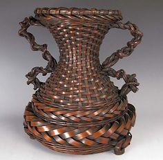 Wagumi-style Ikebana Basket; Meiji/Taisho Period. www.flyingcranesantiques.com