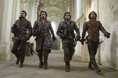 The Musketeers - Series II via Musketeers_BBCA's Twitter: 'It's #TheMusketeers day (and look at that strut!) We'll see everyone tonight, Saturday Feb 7th 9/8c on @BBCAmerica!'