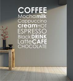 Coffee, Wandtattoo, Chocolate, Küche, Wand
