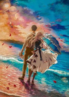Anime Scenery Wallpaper, Cute Anime Wallpaper, Kawaii Anime Girl, Anime Art Girl, Otaku Anime, Manga Anime, Violet Evergarden Wallpaper, Violet Evergreen, Violet Evergarden Anime