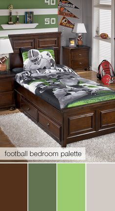 Football-themed bedroom color palette
